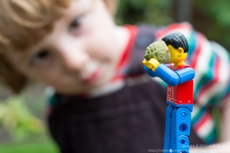 Oh! Mr Lego man! What are you doing with my acorn?!?