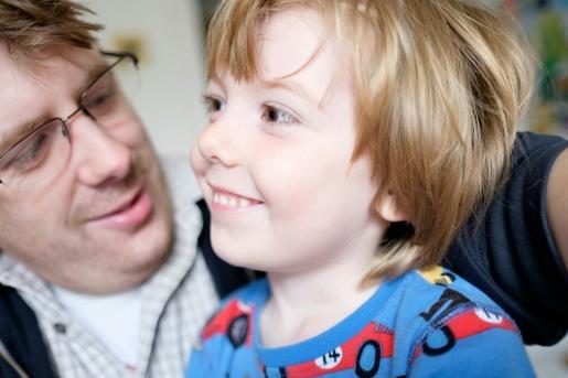 Father, Son, Self Portrait, Pyjamas