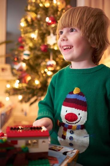 Snowman, Christmas Jumper, Boy, Christmas Tree, Lego